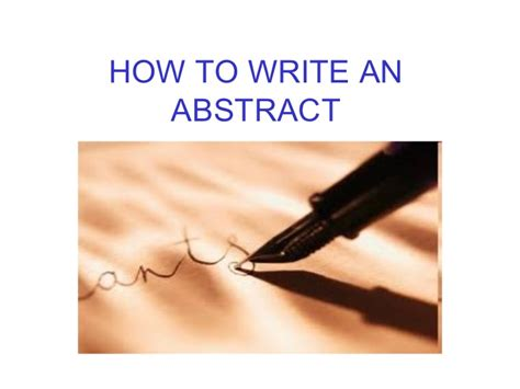 how do i write an abstract for a research paper how to write an abstract