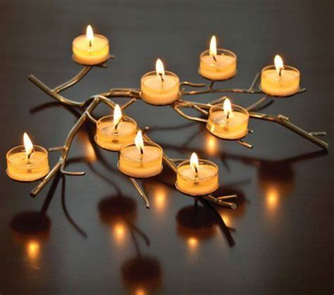 aluminum tree branch tea light holder by taraluna fair