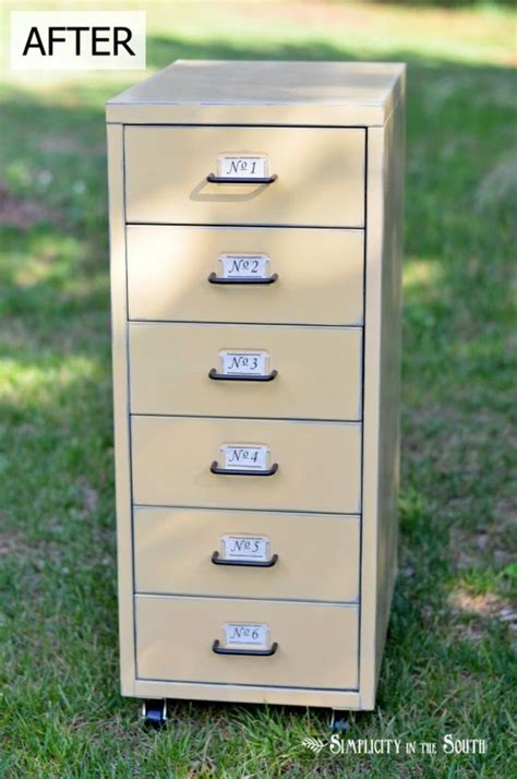 Chalk Paint On Metal Filing Cabinet Tips For Painting Metal Furniture With Sloan Chalk Paint Ikea Helmer Metal Cabinet