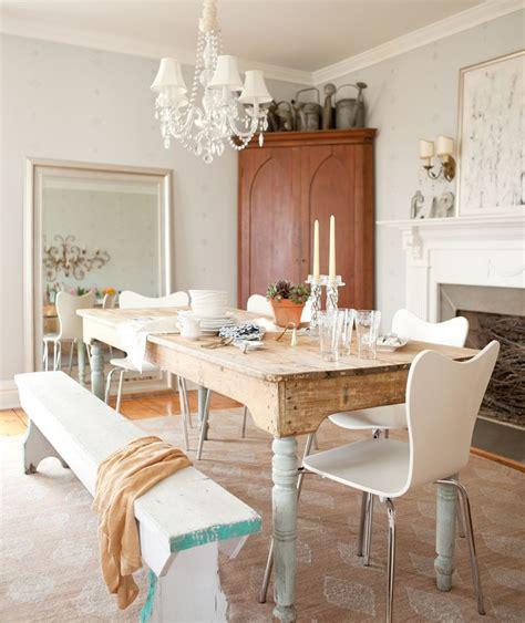 banco pintado de blanco  turquesa mesa hecha de