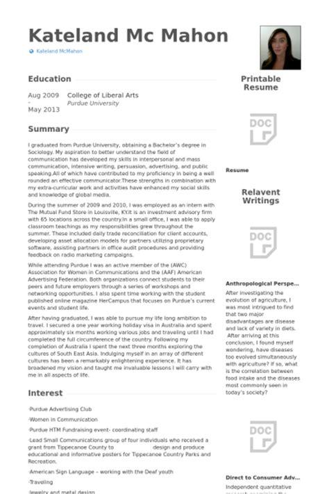 relations intern resume sles visualcv resume