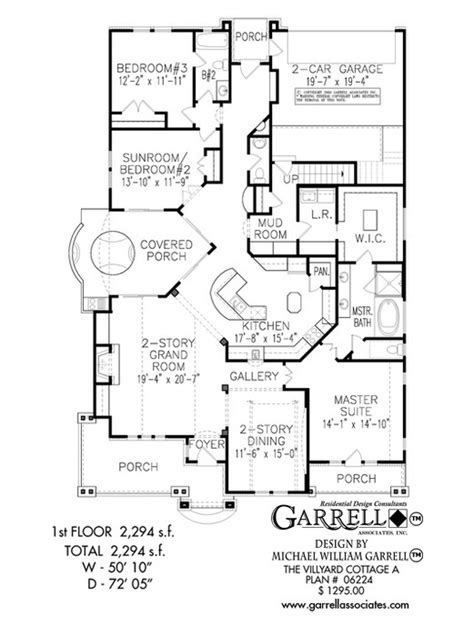cottage home floor plans villyard cottage a house plan house plans by garrell