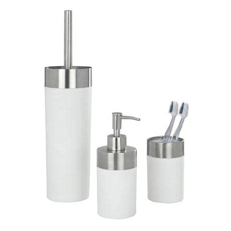 White Bathroom Accessories Sets Wenko Creta Bathroom Accessories Set White At Plumbing Uk