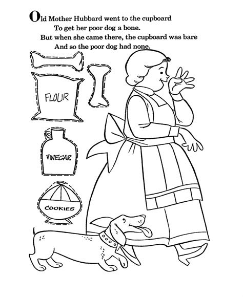 Coloring Page Old Mother Hubbard Apexwallpapers Com Dltk Nursery Rhyme Coloring Pages