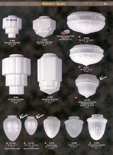 deco l shade large glass l shades shade craftsman lighting globes
