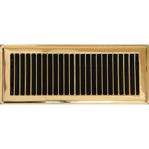10 In X 30 In Floor Register - accord 10 x 30cm polished brass louvered floor register