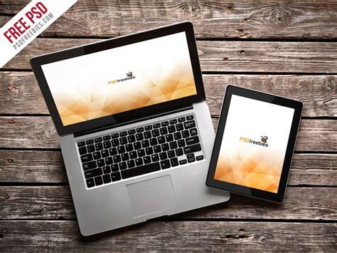 design mockup mac macbook pro and ipad mockup template free psd download
