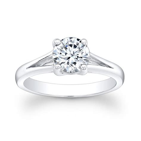 platinum split band engagement ring solitaire 1ct