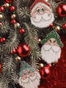 plastic canvas christmas ornaments santa ornaments