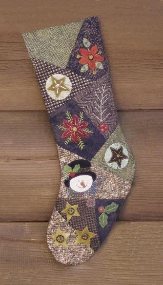 pattern for crazy quilt christmas stocking christmas stockings stockings and quilted christmas