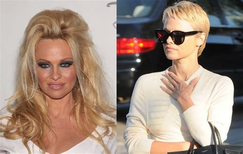 pixie hairstyles before and after pamela anderson before and after pixie haircut hot