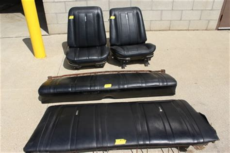 67 nova front bucket seats set and rear bench for sale in