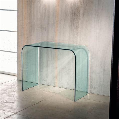 consolle in vetro per ingresso consolle per ingresso joshua in vetro curvato a ponte 88 x