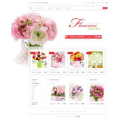website templates for gift shop flower shop zencart template 25217