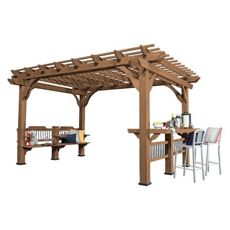 14 ft. x 10 ft. Backyard Discovery Oasis Wood Cedar