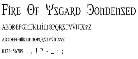 fire of ysgard font dafont com fire of ysgard condensed font gothic modern category