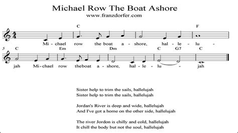 chords for michael row the boat ashore michael row the boat ashore instrumental youtube