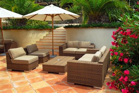 backyard patio set wicker outdoor furniture
