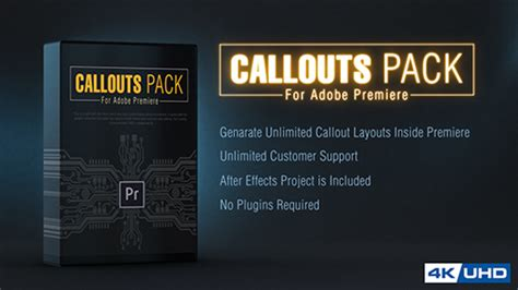 Callout Line Pack For Premiere Miscellaneous After Effects Templates F5 Design Com Adobe Premiere Text Effects Templates