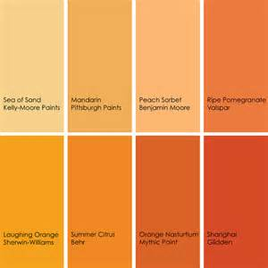 Colour Shades With Names by Gallery For Gt Names Of Shades Of Orange