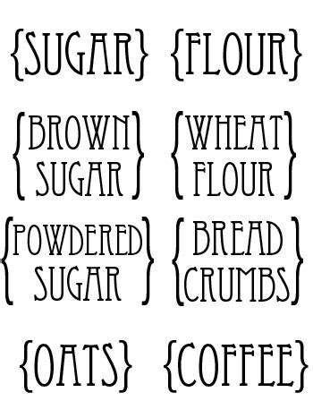 this designer cooks free printable canister labels custom kitchen canister labels printables pinterest