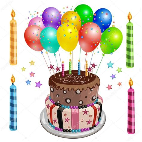 imagenes de cumpleaños y pastel decorado pastel de cumplea 241 os con globos archivo
