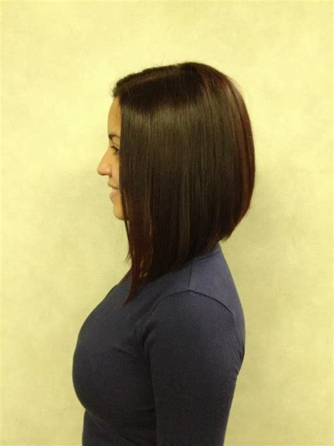hairstyles with graduated sides graduated long bob side view hair make up