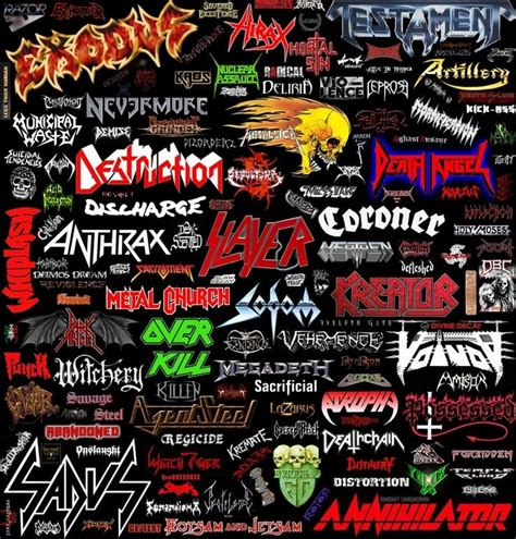 best metal bands 13 best images about metal logos on logos