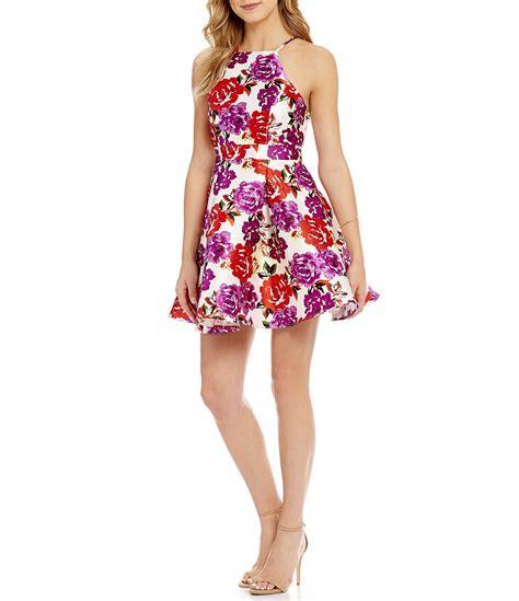 Dress Print Bunga My 002 b darlin floral print satin a line dress dillards