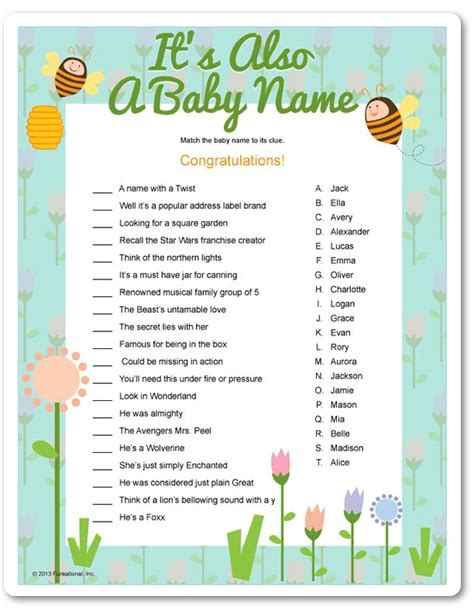 The Meaning Of Baby Shower by Printable It S Also A Baby Name Funsational