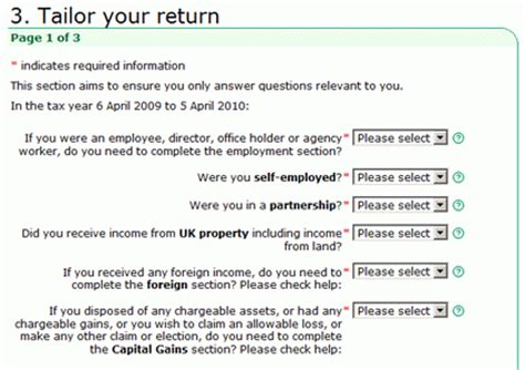 self employment tax code section filling in the inland revenue self assessment online tax form