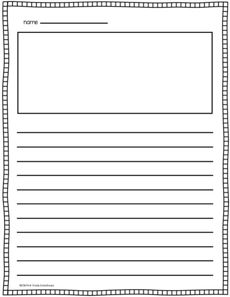 lined writing paper with picture box writing paper with picture space and lines lined paper