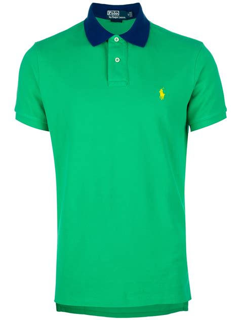 Polo 128 06 Chest Bag Green polo ralph contrast collar polo shirt in green for