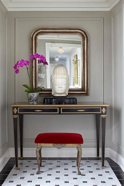 Entryway Table With Stools Underneath The World S Catalog Of Ideas
