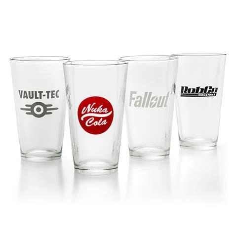 pint glass fallout pint glass 4 pack thinkgeek
