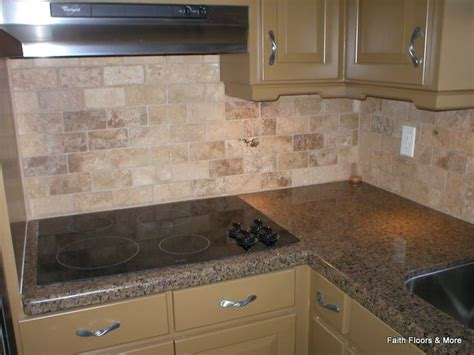 kitchen backsplash mocha travertine kitchen ideas