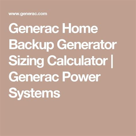 25 best ideas about home backup generator on