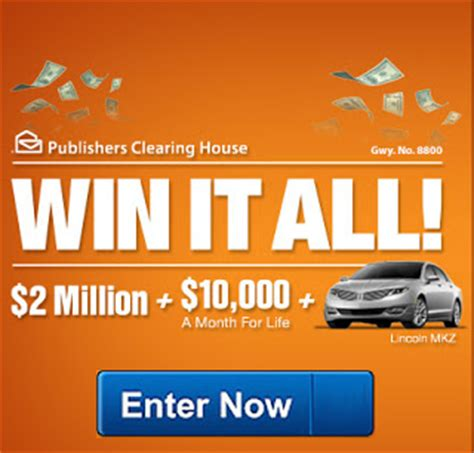 Pch 4 Million Sweepstakes - house of sweepstakes win it all pch sweepstakes 2 million cash 10 000 a month for