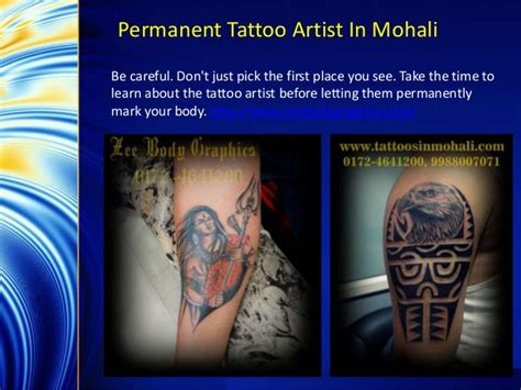 how to find a good tattoo artist how to find a permanent artist in mohali