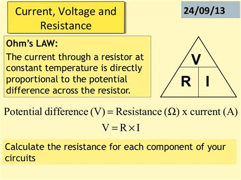 voltage and current in resistors p2 current voltage and resistance