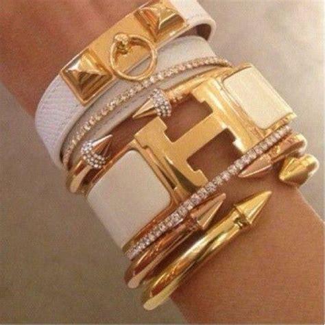 hermes click clack white h wide enamel bracelet designer