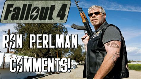 ron perlman on fallout fallout 4 analyzing ron perlman s comments on future