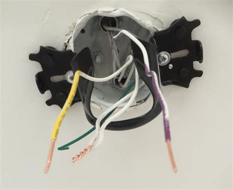 White Black Electrical Wires Ceiling Fan by Ceiling Fan Pre Wiring How To Wire Ceiling Fan