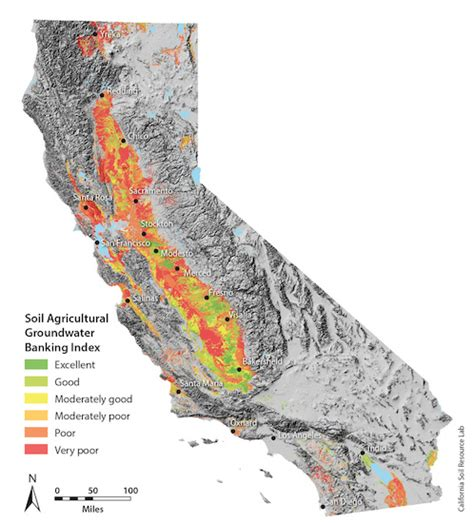 california map gis map identifies farmland with greatest potential for