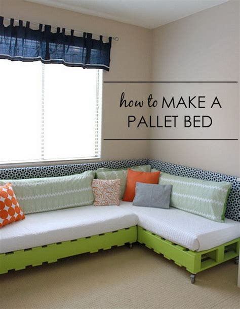 diy pallet bed frame tutorial 30 budget friendly diy bed frame projects tutorials noted list