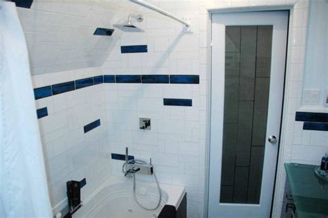 blue border tiles for bathrooms bathroom border tile modern bathroom denver by