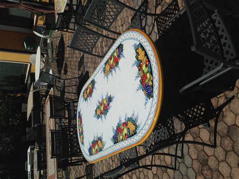 tavoli ceramica deruta ceramiche deruta tavolo ovale 200 x 100 arredo giardino