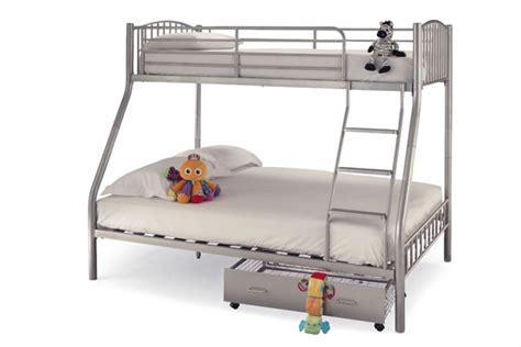 serene oslo 3 sleeper 3ft single metal bunk bed