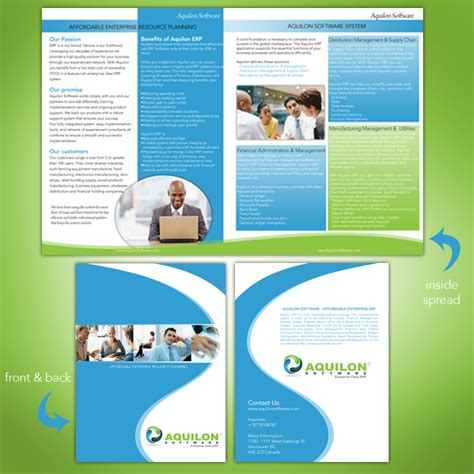 software brochure templates print design contests 187 aquilon software brochure 187 design