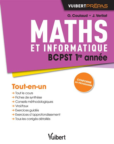 formulaire maths ece 1re maths bcpst 1re ann 233 e vuibert